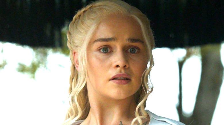 Daenerys Targaryen looking surprised