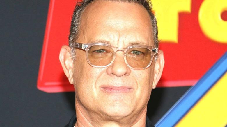 Tom Hanks looking serious