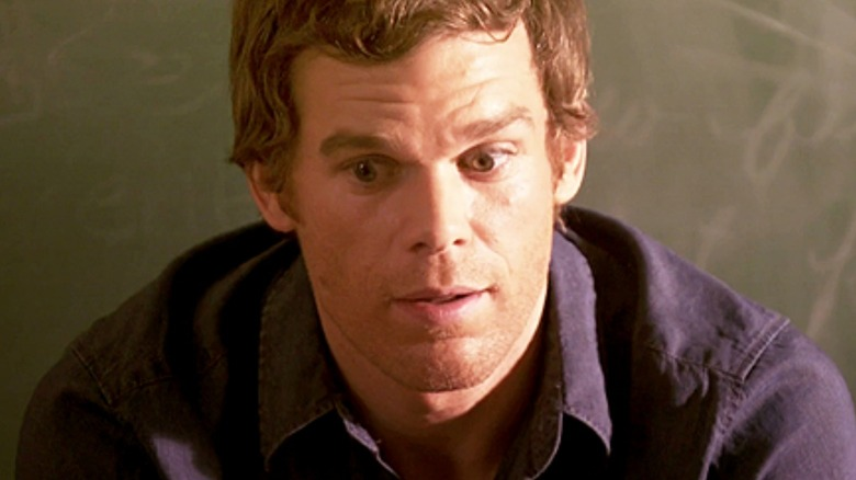 Dexter looks worried