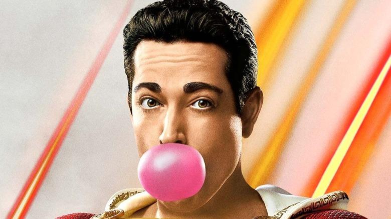 Shazam pink bubble gum
