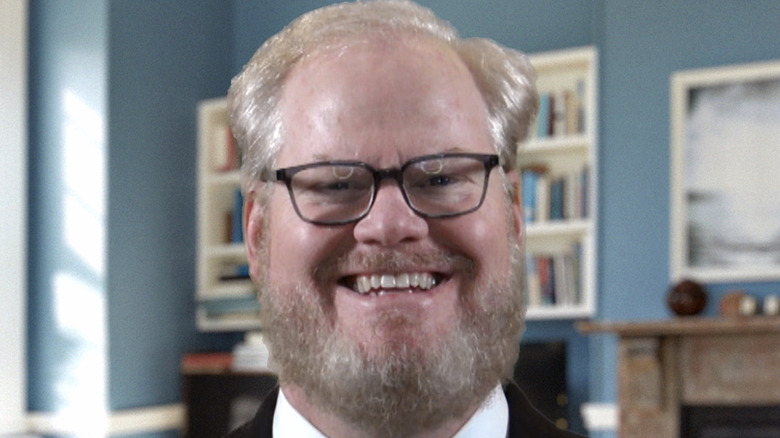 Jim Gaffigan glasses beard smiling