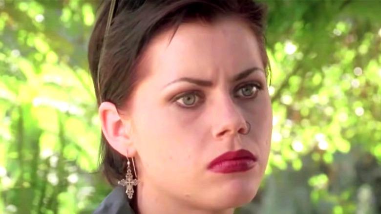 Fairuza Balk frowning
