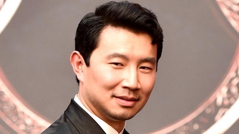 Simu Liu at the Shang-Chi premiere