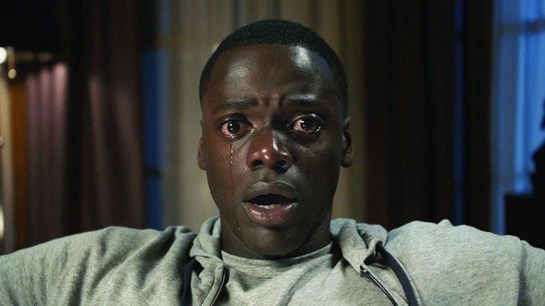 Daniel Kaluuya falling into the sunken place in Get Out