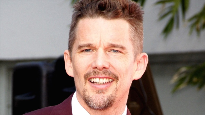 Ethan Hawke smiling at public event