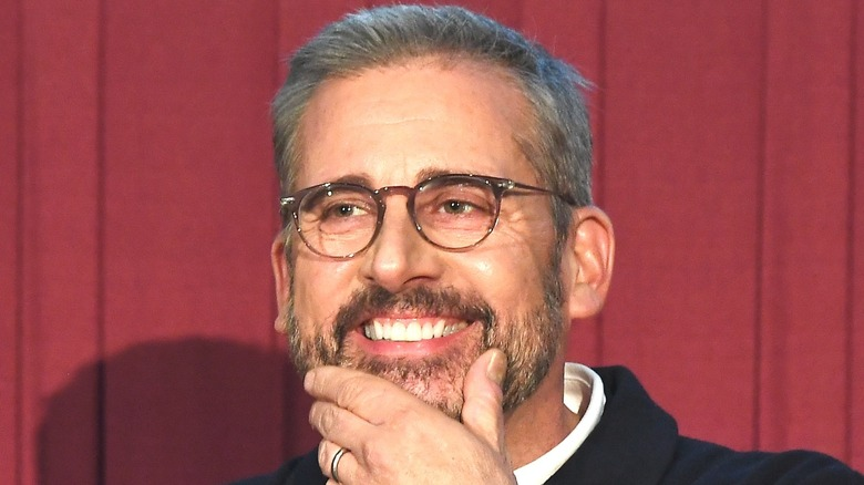 Steve Carell smiling at event