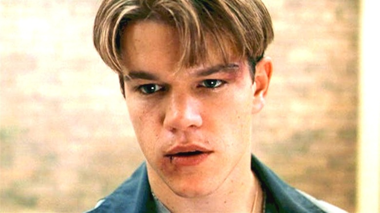 Will Hunting with a busted lip