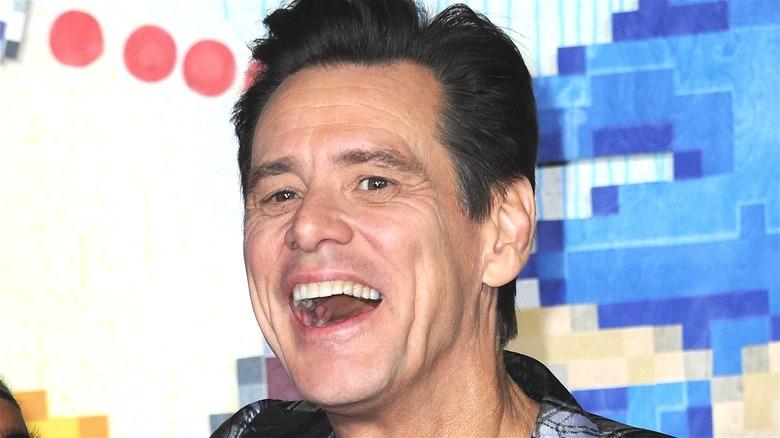 Jim Carrey laughing