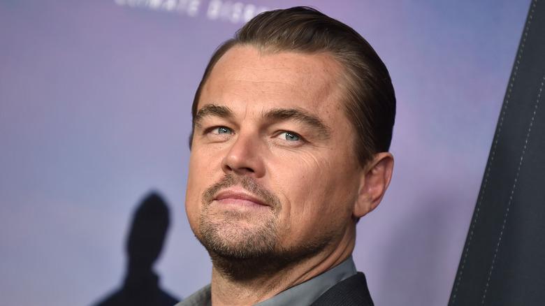 DiCaprio posing at event
