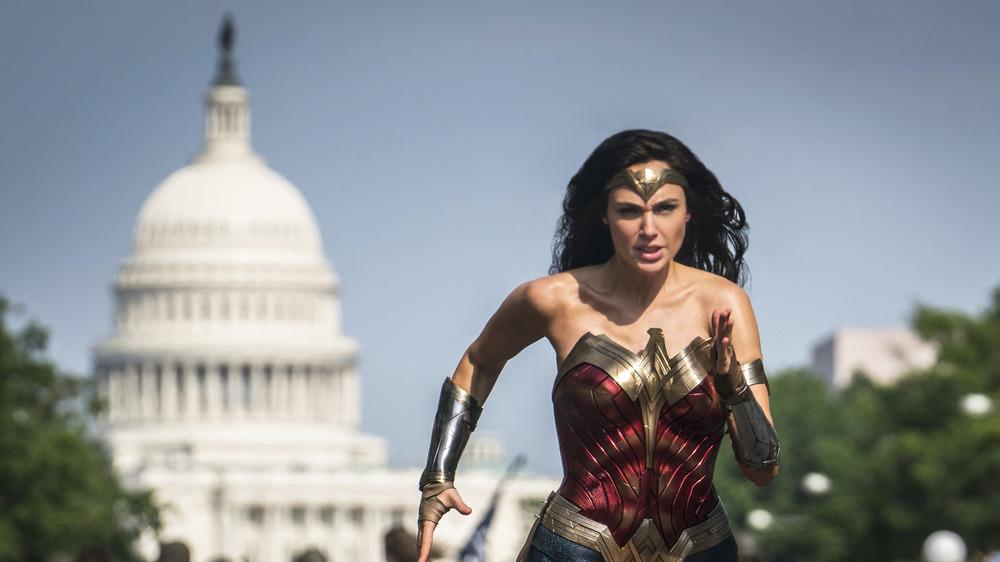 Wonder Woman running from White House