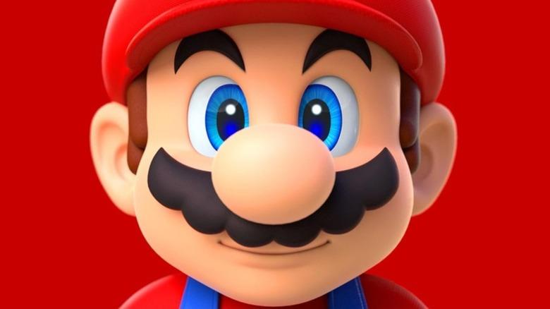 Mario looking shocked
