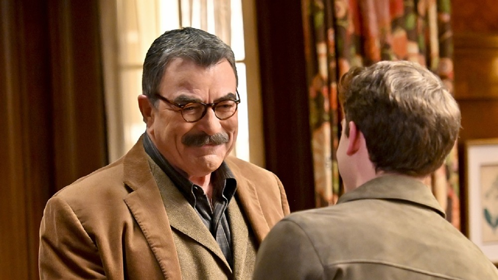 Tom Selleck as Frank Reagan and Will Hochman as Joe Hill on Blue Bloods