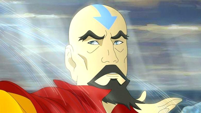 Tenzin of The Legend of Korra airbending