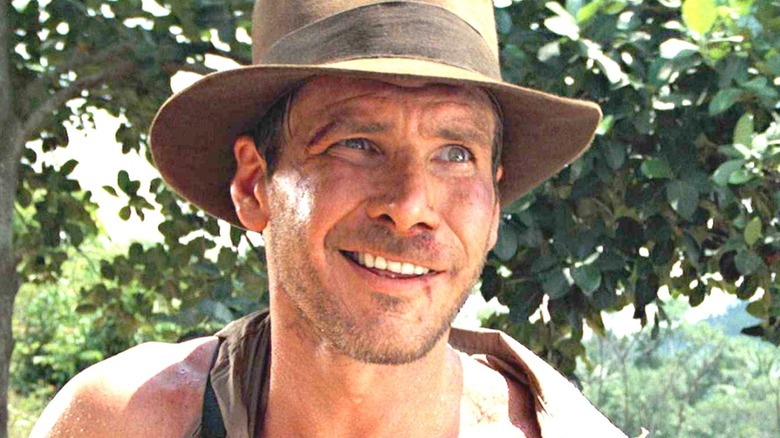 Indiana Jones smirking