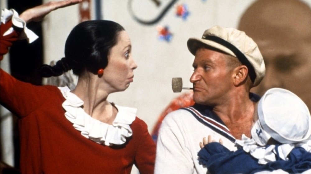 Shelley Duvall and Robin Williams in Robert Altman's Popeye