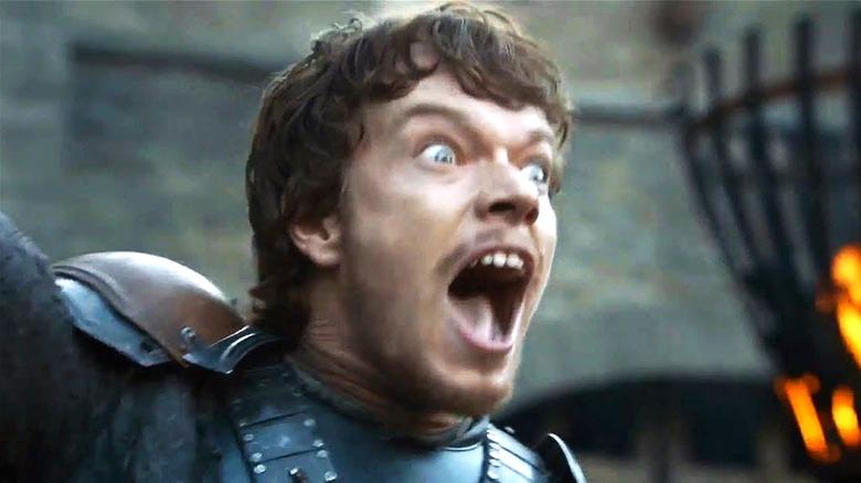 Theon Greyjoy shouting