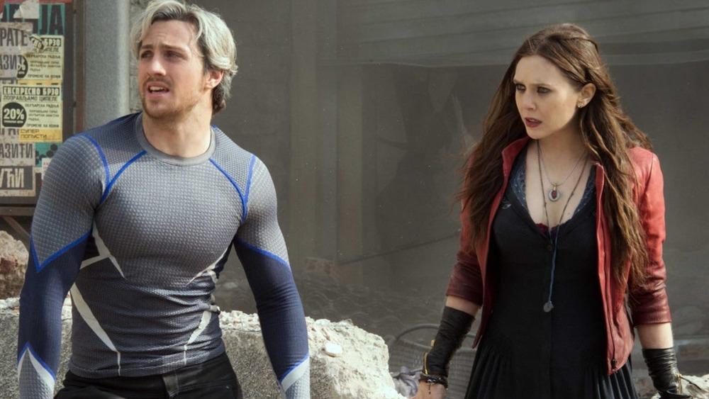 Wanda and Pietro in battle