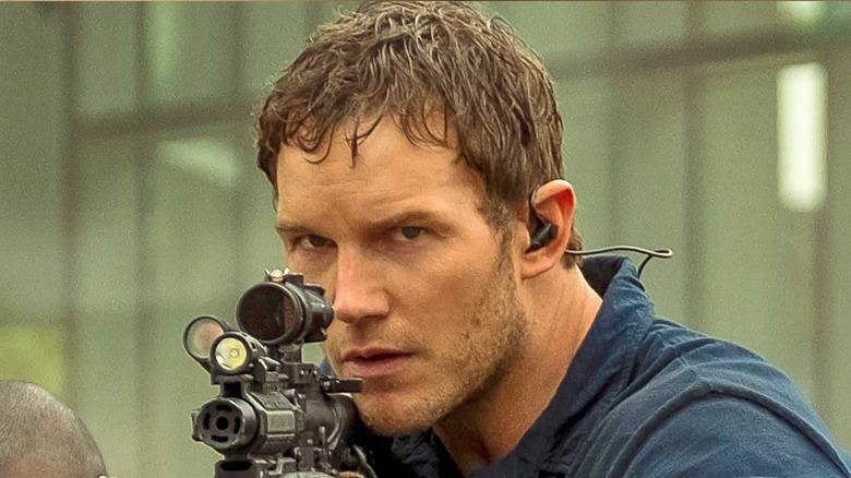 Dan aiming rifle