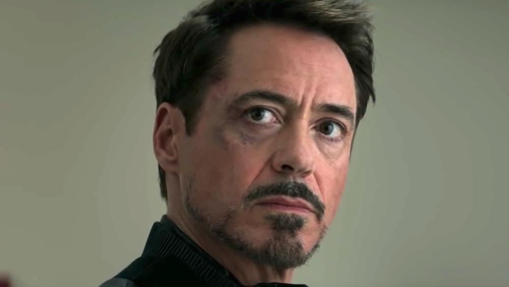 Tony Stark staring