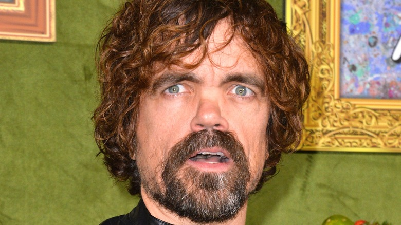 Peter Dinklage opening his mouth
