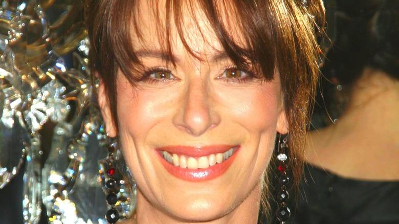 Jane Kaczmarek smiling with bangs
