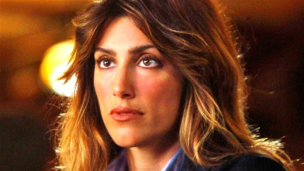 Jennifer Esposito stares at someone on Blue Bloods