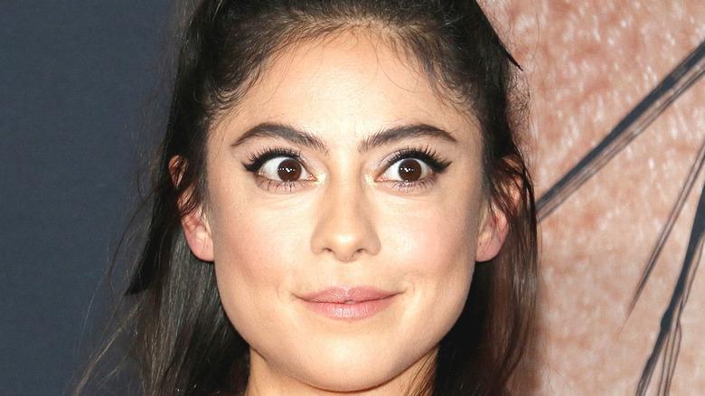 Rosa Salazar ECU with wide eyes
