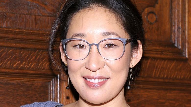 Sandra Oh smiling glasses