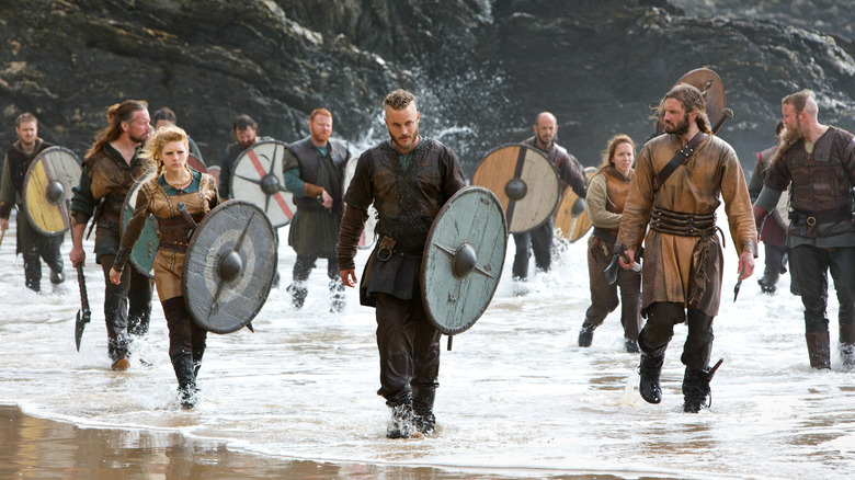 Travis Fimmel and the cast of Vikings