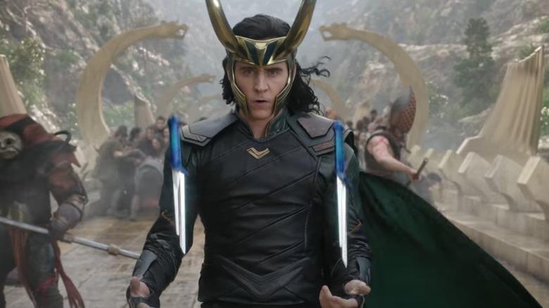 Loki flipping knives