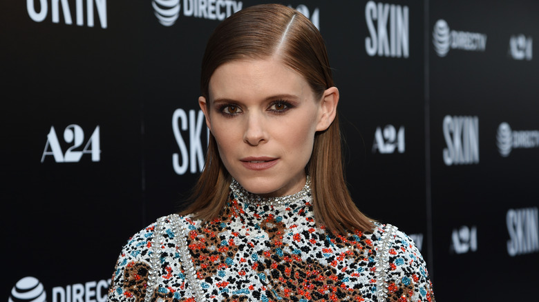 Kate Mara walks the red carpet for the premiere of Skin