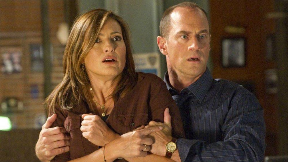 Christopher Meloni and Mariska Hargitay as Benson and Stabler on Law & Order: SVU