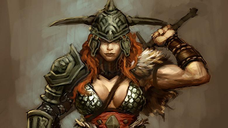 Diablo 3 Barbarian Concept Art