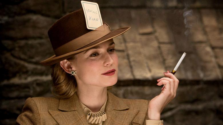 Diane Kruger stylishly smokes in Inglourious Basterds