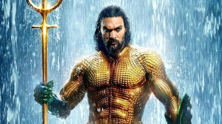 Jason Momoa as Aquaman promotional poster