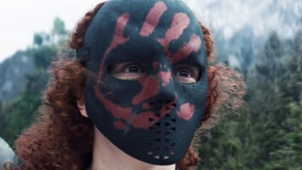 Karli Morgenthau Flag Smasher mask