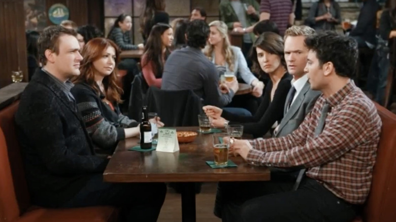 Jason Segel as Marshall Eriksen, Alyson Hannigan as Lily Aldrin, Cobie Smulders as Robin Scherbatsky, Neil Patrick Harris as Barney Stinson, and Josh Radnor as Ted Mosby on How I Met Your Mother