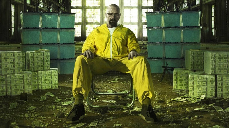 Walter White with a lot of money and meth