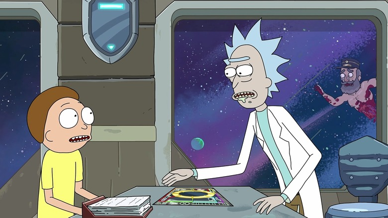 Scene from Rick and Morty