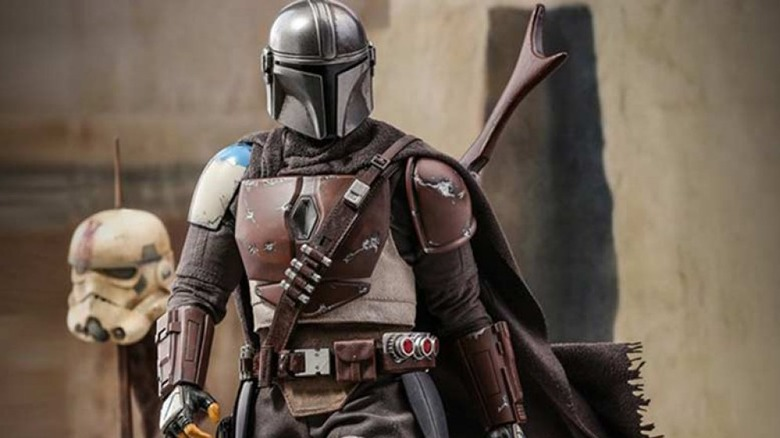 The Mandalorian, portrayed by Pedro Pascal in The Mandalorian