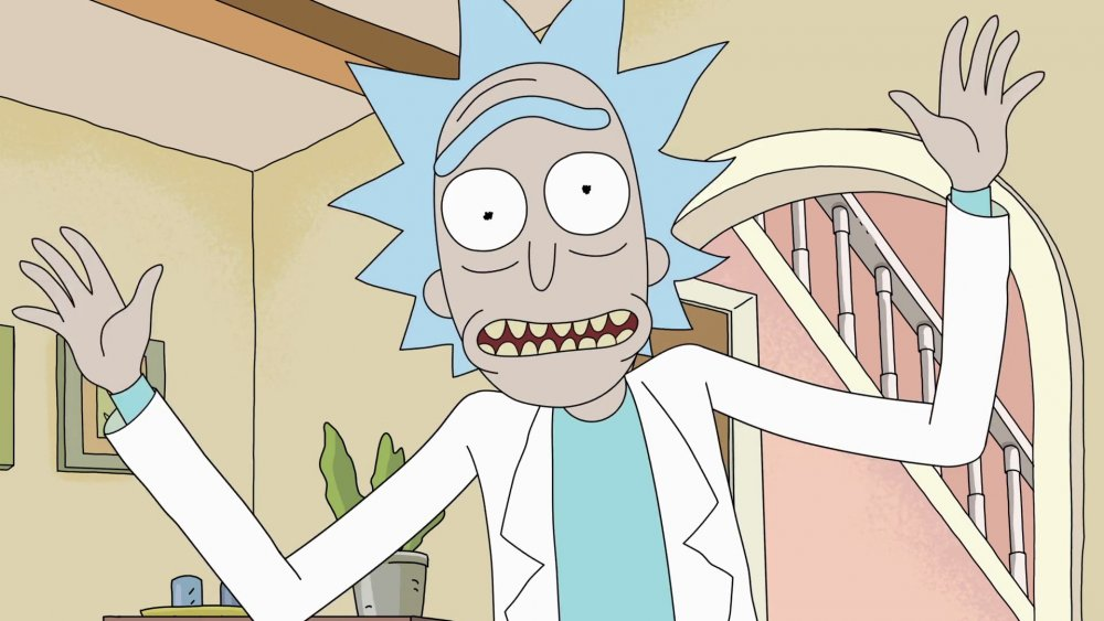 Rick (voiced by Justin Roiland) in Rick and Morty