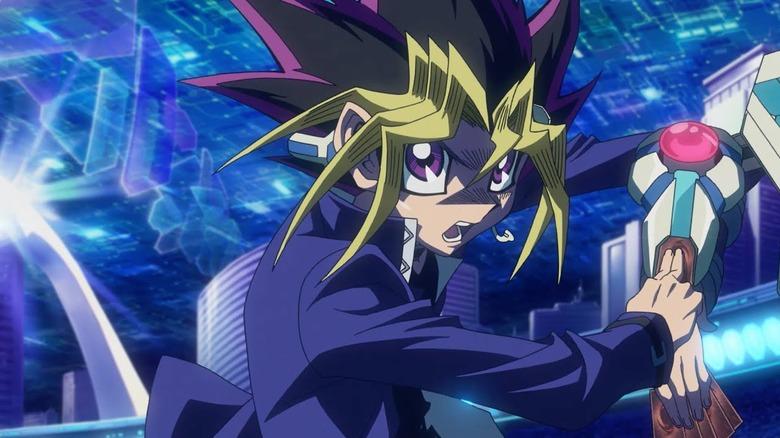 Yugi Moto/Yami Yugi in Yu-Gi-Oh!: The Dark Side of Dimensions