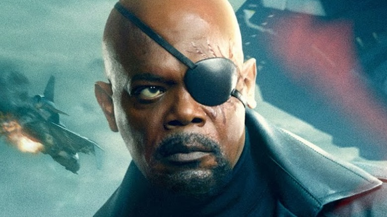 Samuel L. Jackson as Nick Fury in Captain America The Winter Soldier
