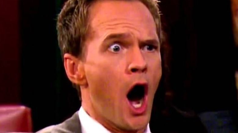 Neil Patrick Harris looking shocked in close-up