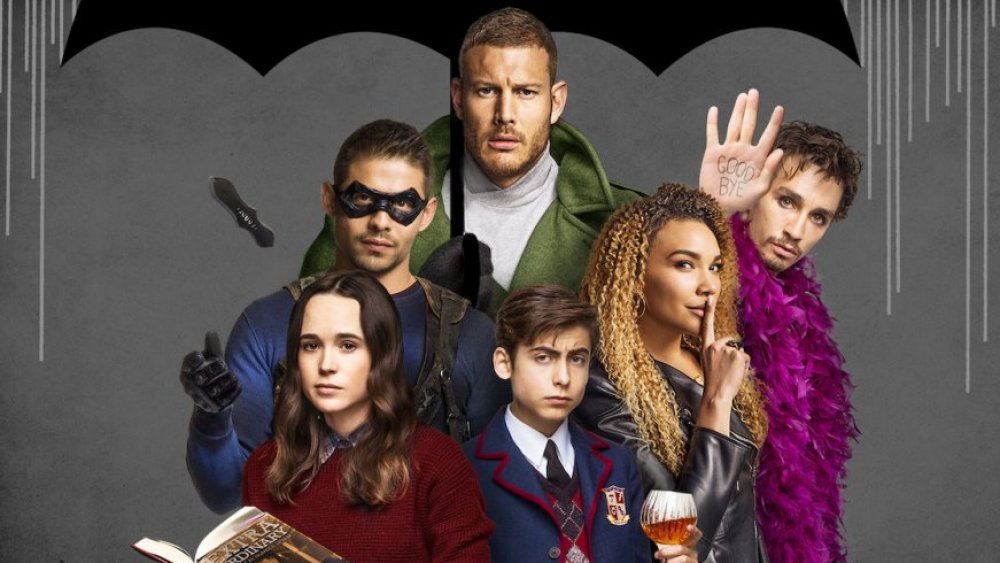 Promo image featuring the cast of The Umbrella Academy