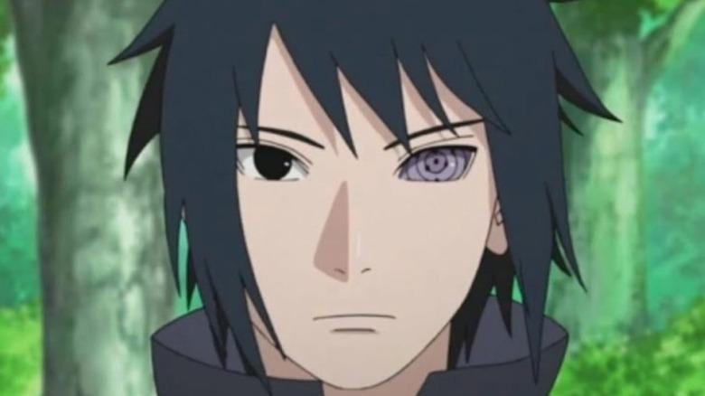 Sasuke with his Rinnegan