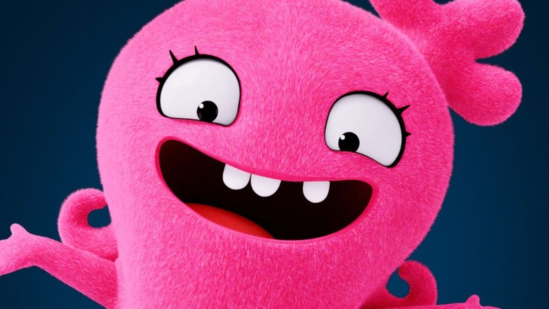 Pink Uglydoll smiling