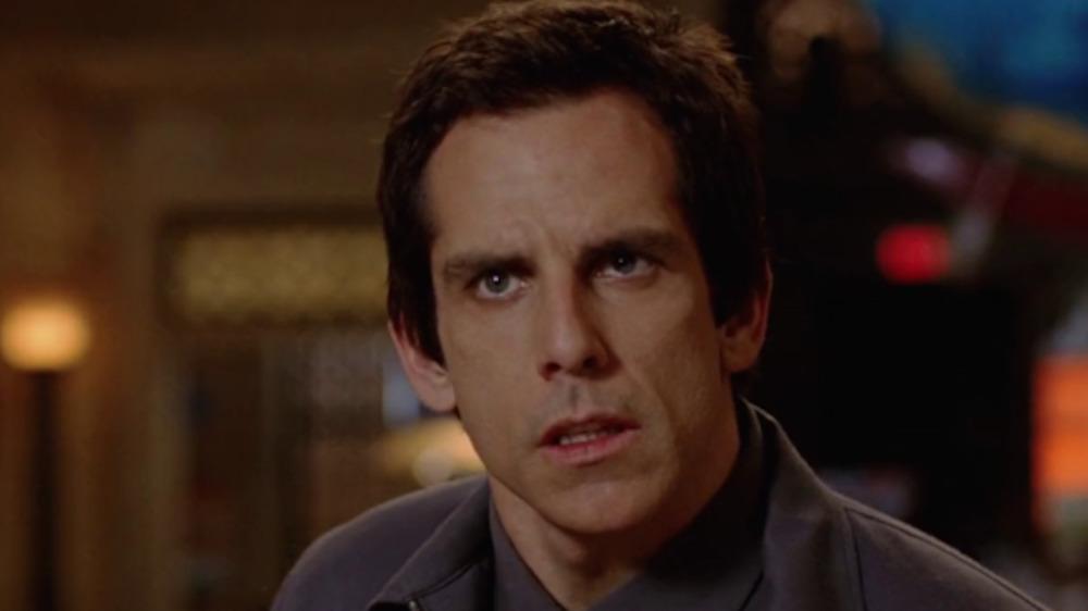 Ben Stiller looking disgruntled