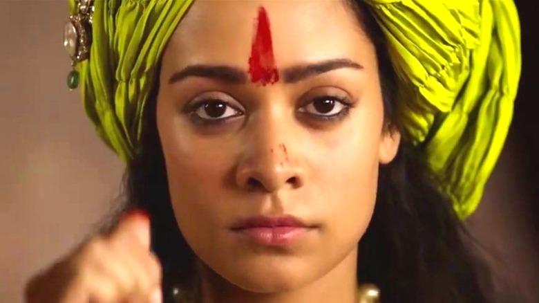 Rani Lakshmibai blood on face
