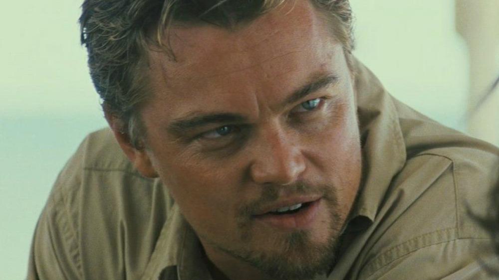 Leonardo DiCaprio staring intently